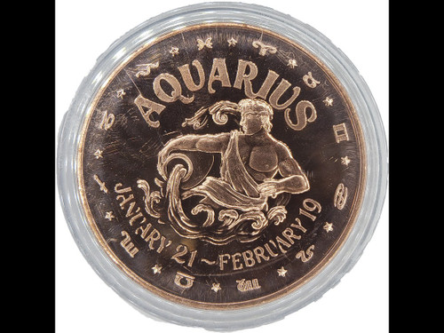 Astrology Copper Coin Collection:  Aquarius