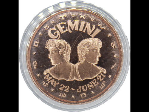 Astrology Copper Coin Collection:  Gemini