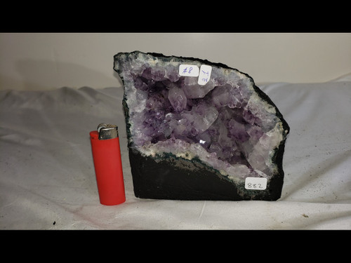 """Amethyst Church Crystal Cathedral Geode - Mini Cave -  Almost 6"""" Tall!"""