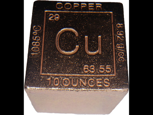 Elemental Cube Collection: 1.25 Inch Square Solid Copper Cube