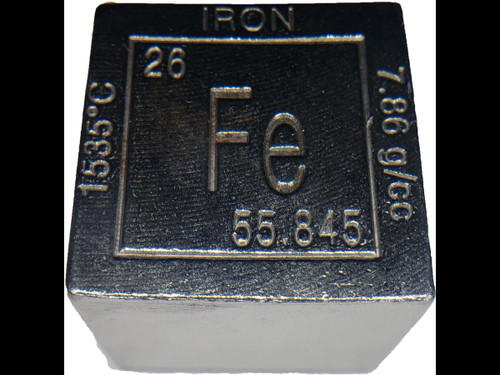 Elemental Cube Collection: 1.25 Inch  Solid Iron Cube