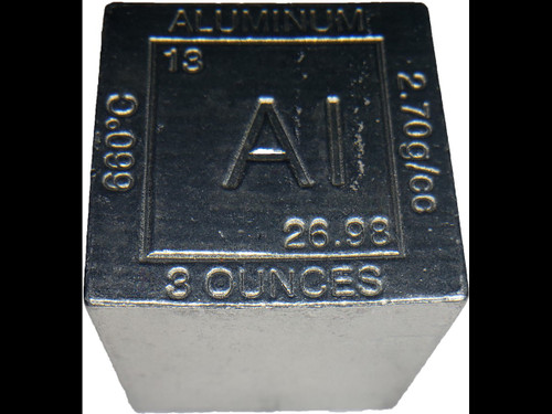 Elemental Cube Collection: 1.25 Inch  8 Ounce Solid Aluminum Cube