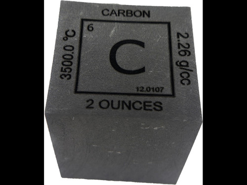 Elemental Cube Collection: 1.25 Inch  2 Ounce Solid Carbon Cube