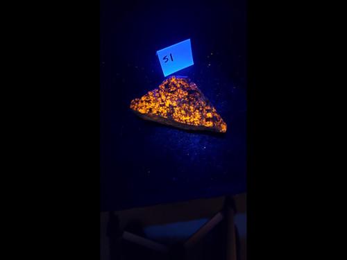 "Sodalite Syenite Fluorescent Mineral Specimen - ""Yooper Rock""-  Bright LW - Cabinet Sized"