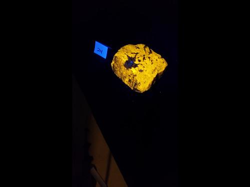 A Grade Wernerite Specimen - Grenville, Quebec - Bright Yellow LW Fluorescent - 5+ lbs