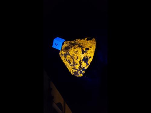 A Grade Wernerite Specimen - Grenville, Quebec - Bright Yellow LW Fluorescent - 8 lbs