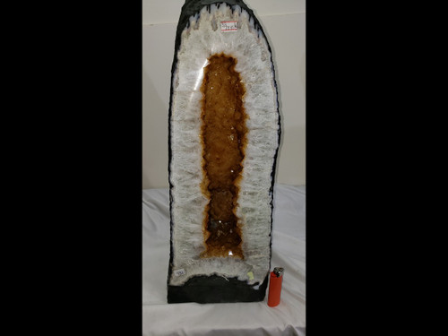 "Citrine Church Crystal Cathedral Geode Tower -  Great Color -  Over 20"" Tall"