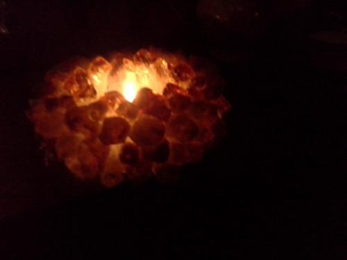 Citrine Quartz Crystal Cluster 'Crown Point' Tealight Candle Holder