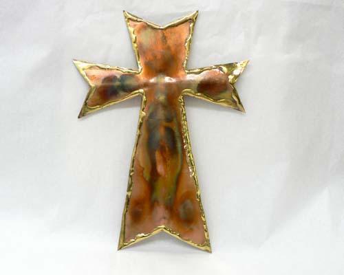 """Copper Wall Cross - 15"""" Tall"""