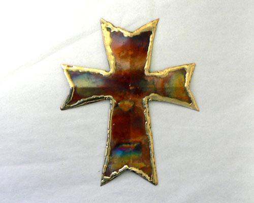 """Copper Wall Cross - 4"""" Tall"""