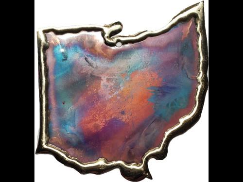 Copper Ornament - State of Ohio