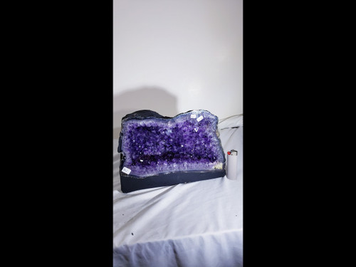 """Amethyst Church Crystal Cathedral Geode: Excellent Color - Almost 11"""" Wide"""