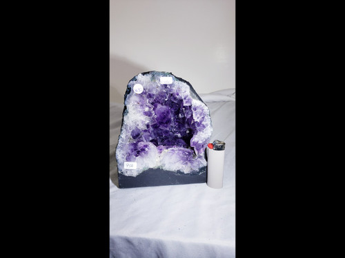 Amethyst Church Crystal Cathedral Geode:  Nice Mini Cave - 7 inches