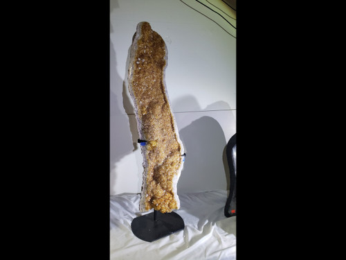 "Extra Large Citrine Crystal Cluster Slab On Stand - 36"" Tall"