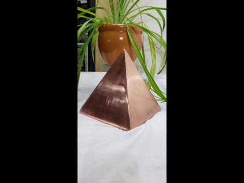 "6"" Solid Copper Pyramid - 26+ lbs of solid copper"