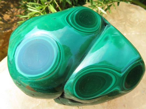 Polished Malachite Piece - Freeform - Office Desk Size up to 1lb