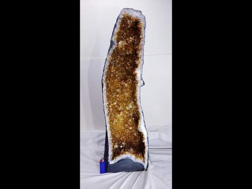 """Citrine Church Crystal Cathedral Geode Tower - Over 28"""" Tall"""