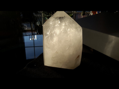 Very Large Polished Zambian Quartz Crystal Point