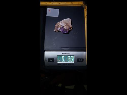 """""""Fire Fluorite"""" Purple Fluorite w/ Red Long Wave Fluorescense"""