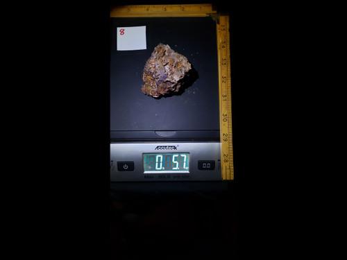"""""""Fire Fluorite"""" Purple Fluorite   -  Red Long Wave Fluorescent"""