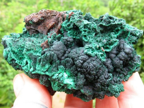Medium Sized Silky Chatoyant Velvety Green Malachite Specimens