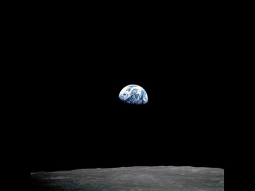 Earthrise - Apollo 8 -  Poster on Photo Paper