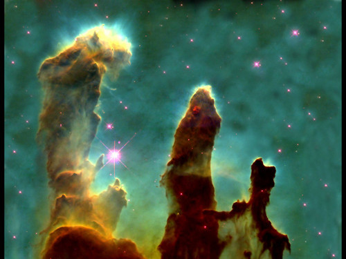"Gas Pillars of The Eagle Nebula - 24"" x 36"" Poster"