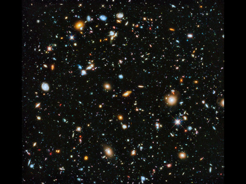 "Hubble Deep Field - 2014 Version -  Hubble 24"" x 26"" Photo Print"