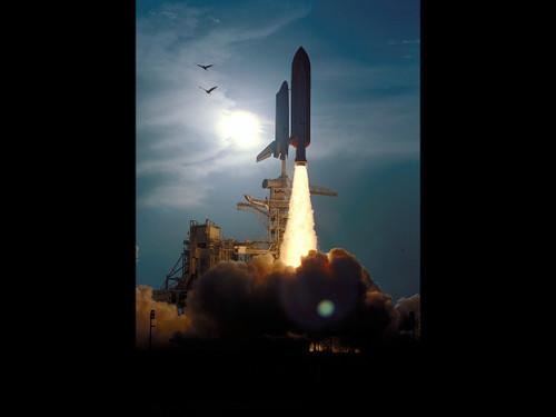 "STS-64 Launch - Historic NASA Photo  - 24"" x 30"" Photo Print"