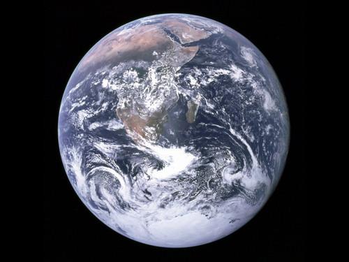 "Earth - From Apollo 17- Historic NASA Photo  - 24"" x 24"" Photo Print"