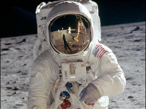"Neil Armstrong Reflection - Historic NASA Photo  - 24"" x 32"" Photo Print"