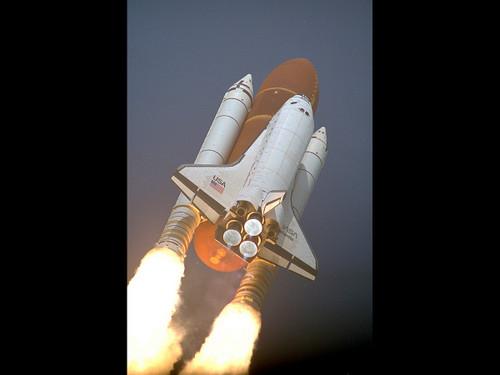 "Shuttle Atlantis STS45 Launch - Historic NASA Photo  - 24"" x 30"" Photo Print"