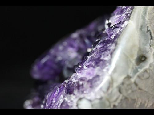Beautiful Deep Royal Purple Amethyst - Agate Polished Edges - Uruguay -almost 2lbs!