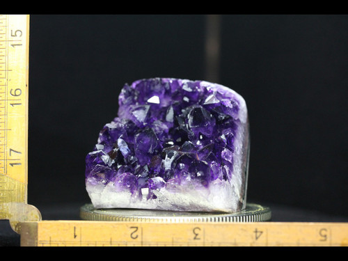 Beautiful Deep Purple Standing Amethyst with Polished Edges
