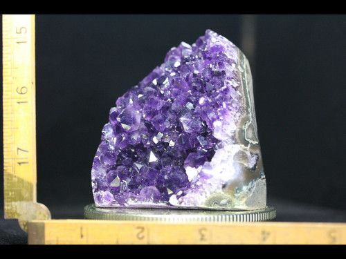 Beautiful Deep Purple Amethyst with Polished Agate Edges almost 1lb!