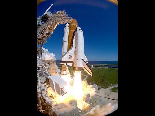 "Shuttle Atlantis STS66 Launch - Historic NASA Photo  - 24"" x 34"" Photo Print"