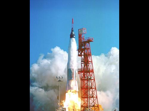 "Launch of Friendship 7 - Historic NASA Photo  - 24"" x 18"" Photo Print"