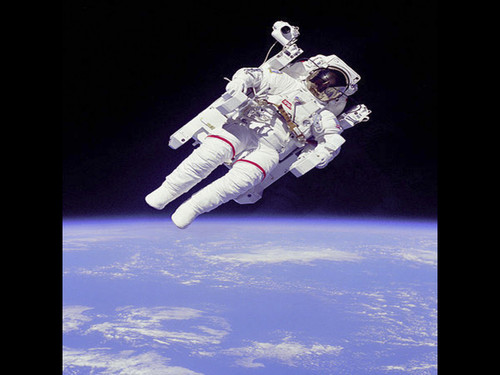 "Space Walk - Historic NASA Photo  - 24"" x 24"" Photo Print"