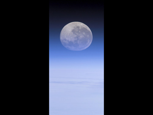 """The Moon - - 42"""" x 88"""" Tall Wall Mural / X-Large Poster"""