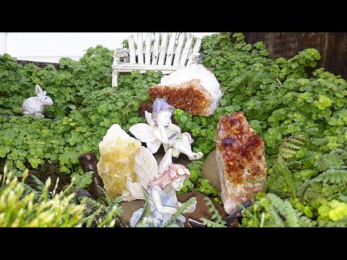 Fairy Garden Rocks - Citrine Clusters