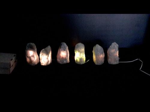 Blue Calcite Mountain Lamps - Rough Blue Calcite