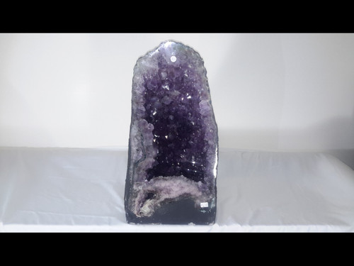 """Amethyst Church Crystal Cathedral Geode - Unique Vug at Base - Over 18"""" Tall!"""