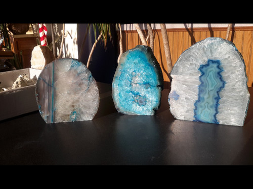 Beautiful Blue Agate PoF Geode Lamp - Grab Bag
