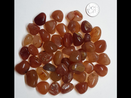 Carnelian Tumbled Stone - by the pound
