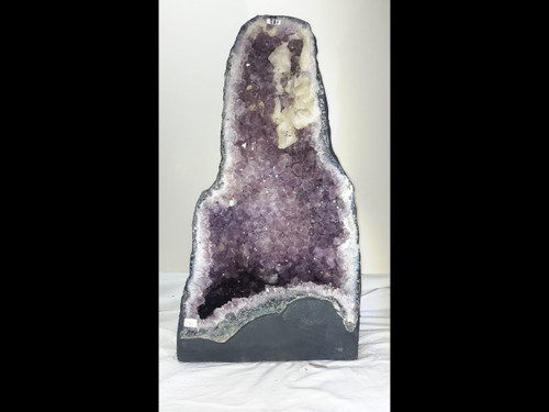 """Amethyst Church Crystal Cathedral Geode.  Unique Shape - over 20"""""""