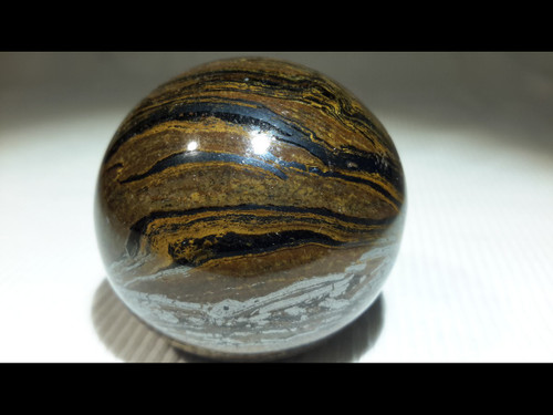Tiger Iron 40 mm Polished  Sphere - Crystal Ball