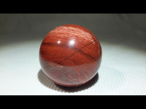 Red Snakeskin 40 mm Polished  Sphere - Crystal Ball