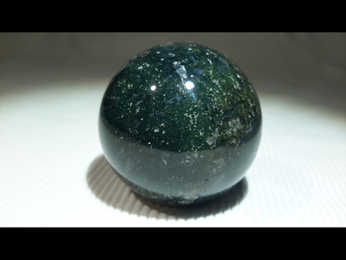 Green Moss Agate 40 mm Polished  Sphere - Crystal Ball