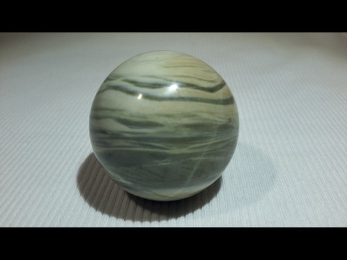 Silver Lace 40 mm Polished  Sphere - Crystal Ball