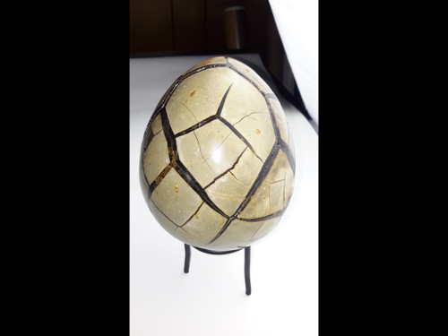 "Beautifully Polished Septarian Druzy ""Dragon Egg""  With Door"